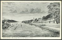 pc ger berlin gruenau 1936 drawing of olympic regatta course meyerheim oly. 2