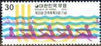 stamp kor 1974 oct. 8th mi 937 national athletes meeting