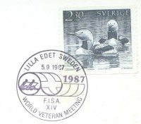pm swe 1987 sept. 5th lilla edet fisa xiv. world veteran meeting