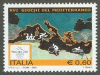 stamp ita 2009 may 5th mi 3293 mediterranean games pescara pictogram