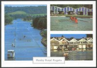 pc gbr the romance of henley series 1994 h 17 the regatta course with crews preparing to race three photos
