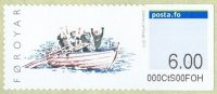 stamp den faroer islands 2010 sept. 20th mi 12 self adhesive regatta competitors rejoicing