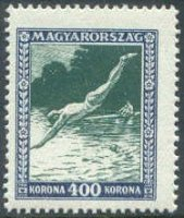stamp hun 1925 apr. 27th mi 406