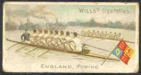 cc gbr 1901 wills s cigarettes  sports of all nations  no. 17  england  rowing   coloured drawing of oxford   cambridge race