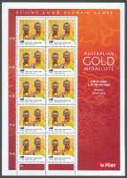 stamp aus 2008 aug. 18th mi 3057 i ms og beijing gold medal winners drew ginn duncan free m2