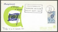 Illustrated cover FRA 1967 Sept. 1st Vichy ERC PM of first day