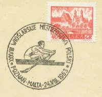 pm pol 1963 aug. 24th poznan malta 38th polish championships single sculler