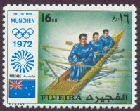 stamp fujeira 1971 dec. og munich mi 1076 a 3x is no olympic event