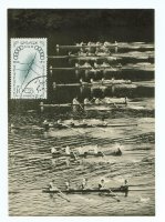 mc egy 1960 og rome with photo of coxed fours race on eight lanesjpg