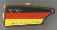 Pin GER 2005 JWRC Brandenburg Big blade with national colours and Olympic pictogram No. 3 400 issued