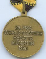 medal ger 1998 25th fisa world masters regatta munich reverse