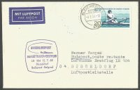 Stamp GDR 1968 WERC Berlin on cover with arrival PM on back