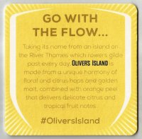 Beer mat GBR FULLERS OLIVERS ISLAND Golden Ale reverse