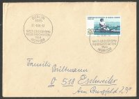 Stamp GDR 1968 WERC Berlin on cover with corresponding PM