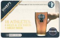 Beer mat GBR SHARPS DOOM BAR Official Beer of the Xchanging Boat Race front