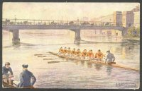 pc aut b.k.w.i. 460 2 drawing of 8 crew in orange clothing approaching a bridge