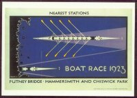 pc gbr 1923 boat race reprint of underground poster