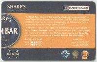 Beer mat GBR 2008 SHARPS Brewery DOOM BAR Official Beer of the Boat Race reverse