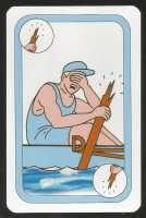 CC AUT 1997 card game Oxford Cambridge Boat Race Cambridge broken oar