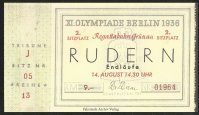 Ticket GER 1936 Aug. 14th finals OG Berlin reproduction