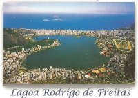 PC BRA undated with photo of Logoa Rodrigo de Freitas venue of the Olympic regatta course Rio de Janeiro 2016 enlargement