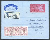 registered letter gbr 1961 july 5th henley with pm moble post office