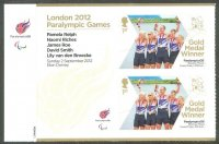 stamp gbr 2012 sept. 3rd ms paralympic games london ltamix 4 gold medal for p. relph n. riches j. roe d. smith cox l. van den broecke gbr