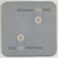 Beer mat GER 1972 Olympic pictogram No. 3 OG Munich reverse