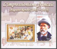 stamp mli 2010 ss the french impressionism auguste renoir