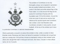 Stamp BRA 2010 SC Corinthians Paulista Explanation of club emblem