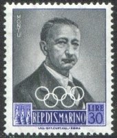 stamp smr 1959 may 19th ioc presidents mi 614 carlo montu 1869 1949