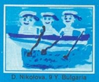 Stamp MGL 1988 Nov. 30th Mi Bl. 132 SS Children Childs drawing of a 3X detail