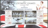 stamp gam undated the fourth modern olympic games london 1908 ss