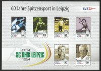 stamp ger 2014 sept. 22nd lvz post ss 60 years of top level sport in leipzig