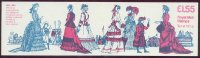 stamp gbr 1982 febr. 1st booklet fr 3b design 5 ten stamps at 15 5 p women s costumes at henley regatta 1860 1880