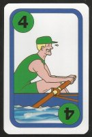 Card game AUT 1997 Oxford Cambridge Boat Race Oxford 4