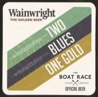 Beer mat GBR 2019 WAINWRIGHT BEER The Boat Race official beer front