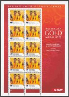 stamp aus 2008 aug. 18th mi 3058 ii ms og beijing gold medal winners david crawshay scott brennan m2x