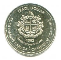 medal can 1982 trade dollar token 100th st. catherines royal canadian henley regatta 1880 1982 reverse
