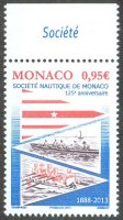 stamp mon 2013 jan. 16th 125th anniversary of sn de monaco
