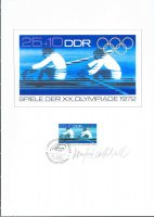 stamp gdr 1972 may 16th og munich mi 1756 designer s show page with signature
