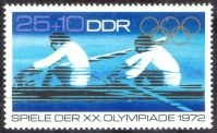 stamp gdr 1972 may 16th og munich mi 1756 j. lucke h. j. bothe gdr gold medal winners at og mexico m2