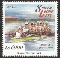 Stamp SLE 2015 OG London USA W8 gold medal winner crew