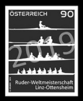 Stamp AUT 2019 WRC Linz Ottensheim black proof MI 3478