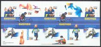 stamp swe 2003 jan. 20th booklet with mi 2334 37 swedish sport federation 100 years single sculler in margin