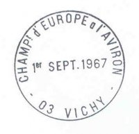 pm fra 1967 sept. 1st vichy werc first day