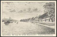 PC GER 1936 Berlin Gruenau Drawing of Olympic regatta course Meyerheim Olympia No. 2