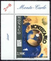 stamp mon 2008 jan. 3rd mi 2870 monte carlo two 4