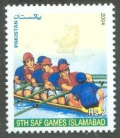 stamp pak 2004 march 29th saf games islamabad mi 1197 8