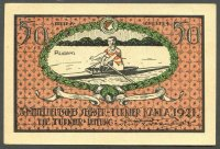banknote emergency money ger 1921 kahla coupon sport club